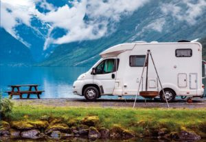 RV Recreational Vehicle in nature